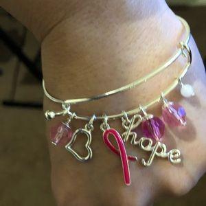 Breast Cancer Sterling Silver Bracelets